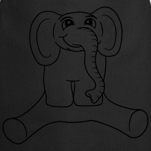 Sitting dick little sweet baby elephant child cute T-Shirts - Cooking Apron