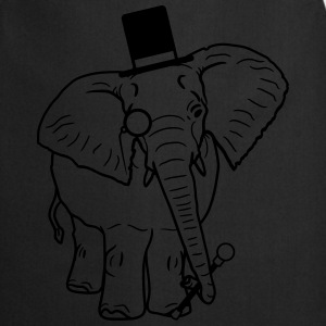Sir gentleman gentleman hat monoculars elephant pa T-Shirts - Cooking Apron