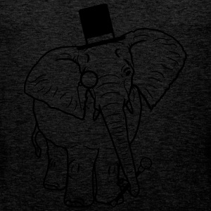 Sir gentleman gentleman hat monoculars elephant pa T-Shirts - Men's Premium Tank Top