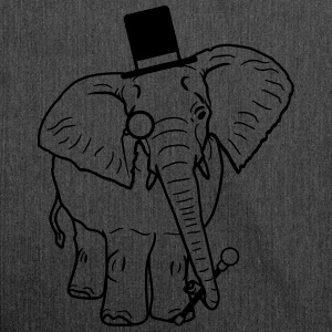 Sir gentleman gentleman hat monoculars elephant pa T-Shirts - Shoulder Bag made from recycled material
