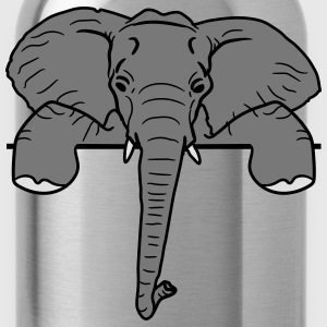 Frame, text, wall, wall, wall, elephant, head, fac T-Shirts - Water Bottle