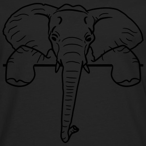 Frame, text, wall, wall, wall, elephant, head, fac T-Shirts - Men's Premium Longsleeve Shirt