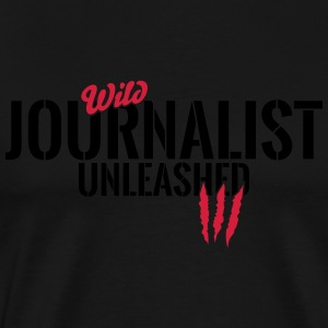 Wilder Journalist entfesselt Long Sleeve Shirts - Men's Premium T-Shirt