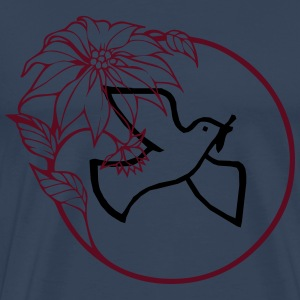 Peace dove with flowers other - Men's Premium T-Shirt