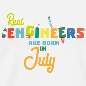 Engineers are born in July S6n9z-Design Mugs & Drinkware - Men's Premium T-Shirt