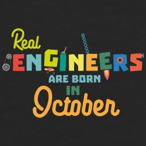Engineers are born in October 52p-Design Mugs & Drinkware - Men's Premium Longsleeve Shirt