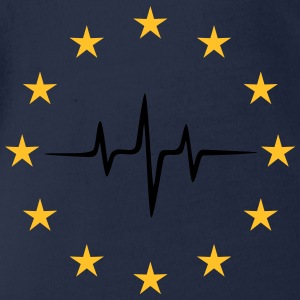 Pulse of Europe, EU Stars, European Union Shirts - Baby bio-rompertje met korte mouwen