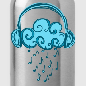 Headphones, Cloud, Music Notes, Rain, Clef, Party T-shirts - Drinkfles