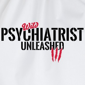 Wild psychiatrist unleashed Baby Long Sleeve Shirts - Drawstring Bag