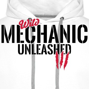 Wild mechanic unleashed T-Shirts - Men's Premium Hoodie