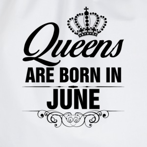 Queens Are Born In June Tshirt T-Shirts - Drawstring Bag