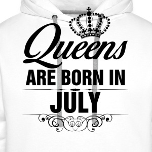Queens Are Born In July Tops - Men's Premium Hoodie