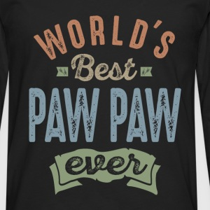 World's Best Paw Paw - Men's Premium Longsleeve Shirt