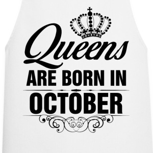 Queens Are Born In October Tshirt T-Shirts - Cooking Apron