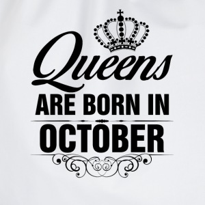 Queens Are Born In October Tshirt T-Shirts - Drawstring Bag