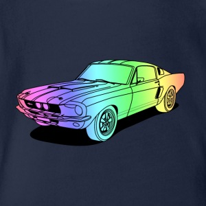 cool car colourful Shirts - Baby bio-rompertje met korte mouwen
