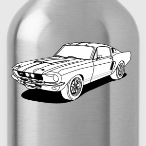 cool car white T-shirts - Vattenflaska