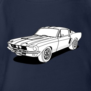 cool car white Shirts - Baby bio-rompertje met korte mouwen