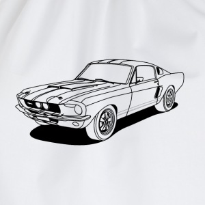 cool car outlines T-Shirts - Drawstring Bag