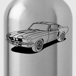 cool car outlines T-Shirts - Water Bottle
