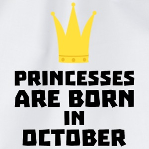 Princesses are born in OCTOBER Sew85 T-Shirts - Drawstring Bag