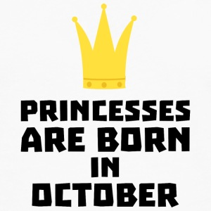 Princesses are born in OCTOBER Sew85 T-Shirts - Men's Premium Longsleeve Shirt