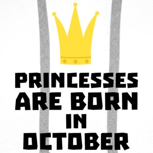 Princesses are born in OCTOBER Sew85 Baby Long Sleeve Shirts - Men's Premium Hoodie