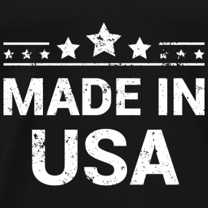 Made in USA (White Print) Bodies bebé - Camiseta premium hombre