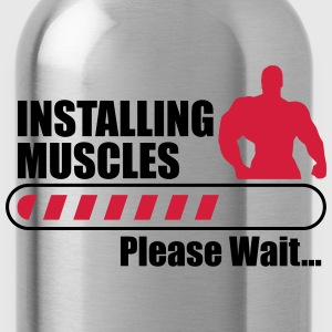 Installing muscles : Gym Body building Fitness  - Borraccia