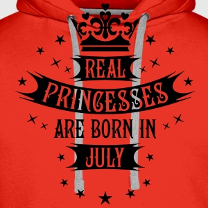 07 Real Princesses are born in July Princess Shirt - Männer Premium Hoodie