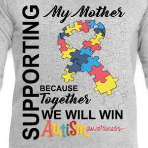 Supporting Mother We Will Win Autism Awareness Tops - Men's Sweatshirt by Stanley & Stella