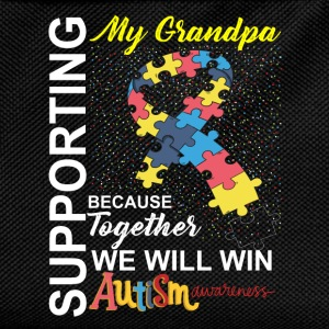 Supporting Grandpa We Will Win Autism Awareness T-Shirts - Kids' Backpack