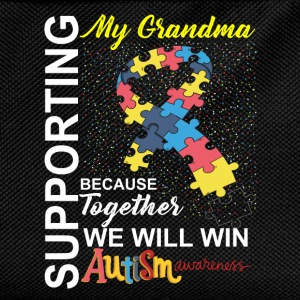 Supporting Grandma We Will Win Autism Awareness T-Shirts - Kids' Backpack