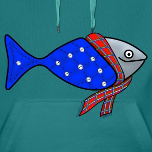 Cold water fish tote bag - Men's Premium Hoodie