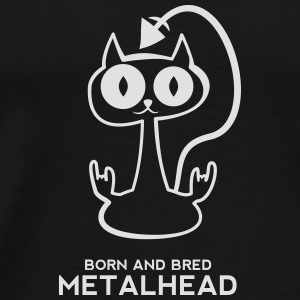 Heavy metal cat for dark backgrounds Mugs & Drinkware - Men's Premium T-Shirt