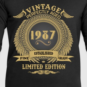 Vintage Perfectly Aged 1987 Limited Edition Tops - Men's Sweatshirt by Stanley & Stella