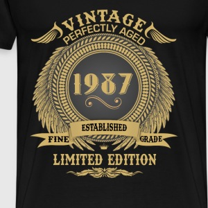 Vintage Perfectly Aged 1987 Limited Edition Tops - Men's Premium T-Shirt