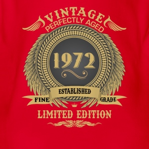Vintage Perfectly Aged 1972 Limited Edition Shirts - Organic Short-sleeved Baby Bodysuit