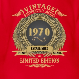 Vintage Perfectly Aged 1970 Limited Edition Shirts - Organic Short-sleeved Baby Bodysuit