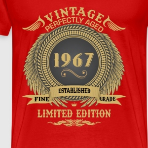 Vintage Perfectly Aged 1967 Limited Edition Tops - Men's Premium T-Shirt