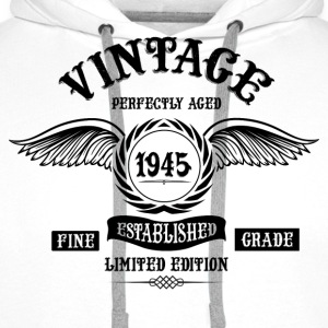 Vintage Perfectly Aged 1945 T-Shirts - Men's Premium Hoodie