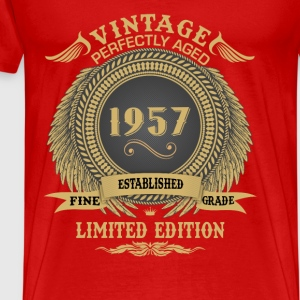 Vintage Perfectly Aged 1957 Limited Edition Tops - Men's Premium T-Shirt