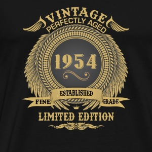Vintage Perfectly Aged 1954 Limited Edition Mugs & Drinkware - Men's Premium T-Shirt