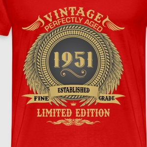 Vintage Perfectly Aged 1951 Limited Edition Tops - Men's Premium T-Shirt
