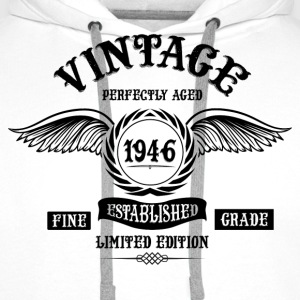 Vintage Perfectly Aged 1946 T-Shirts - Men's Premium Hoodie