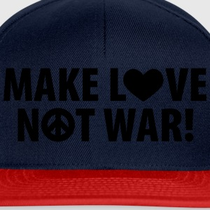 make love – not war (dh) T-Shirts - Snapback Cap