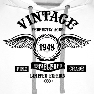 Vintage Perfectly Aged 1948 T-Shirts - Men's Premium Hoodie