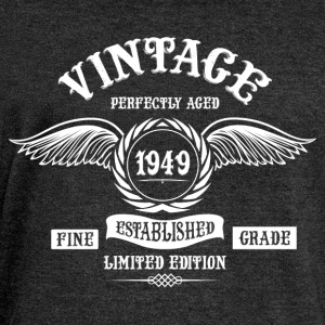 Vintage Perfectly Aged 1949 T-Shirts - Women's Boat Neck Long Sleeve Top