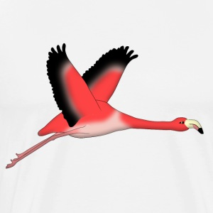 Flying Flamingo Long Sleeve Shirts - Men's Premium T-Shirt