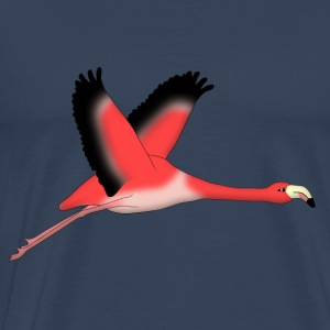 Flygende Flamingo Topper - Premium T-skjorte for menn